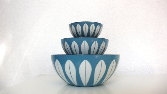 Cathrineholm Lotus Nesting Bowls in Turquoise