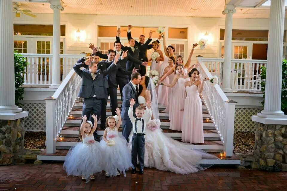 705a0445d554 Charcoal gray blush pink gold and ivory bridal party wedding pictures.  Lange farm garden house. MoriLee 5101. Vera wang tux.
