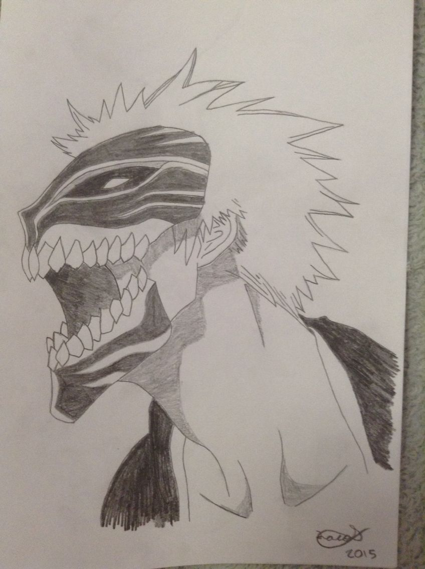 Bleach: Ichigo Hollow Mask | dibujos | Pinterest | Dibujo y Dibujos de
