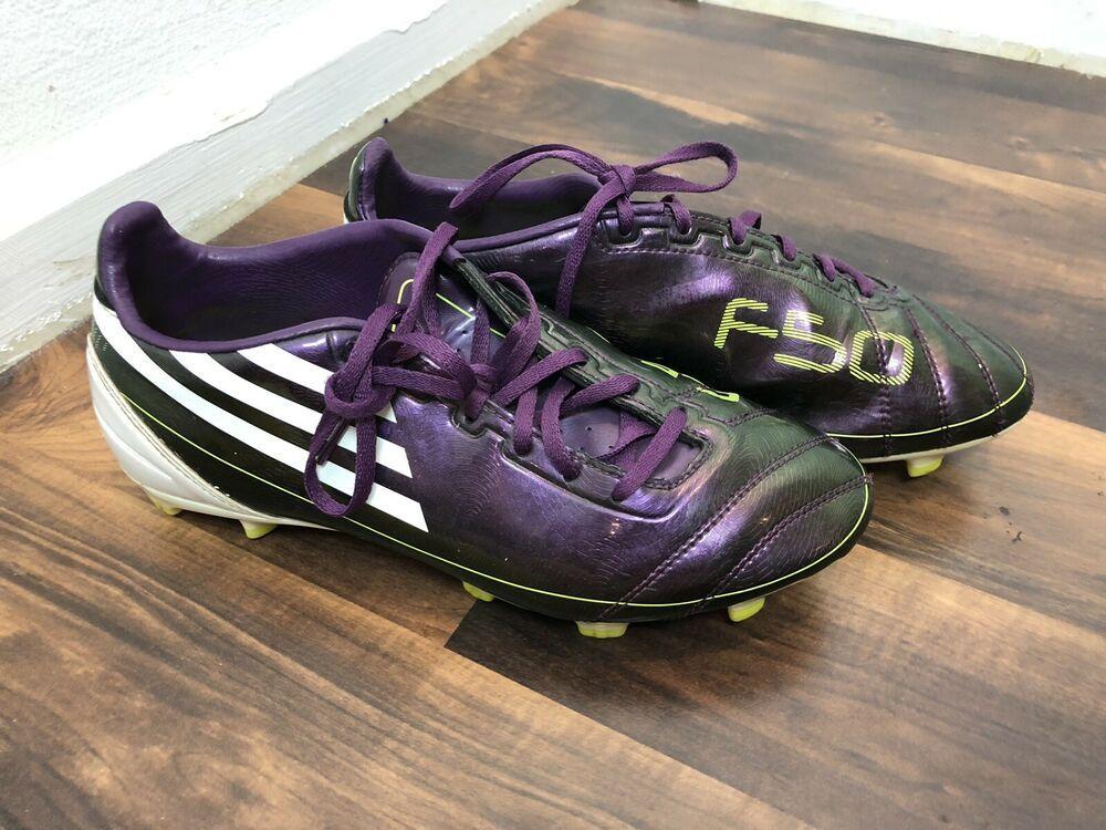 Adidas F10 Trx Fg Soccer Purple Size 6 5 G17685 F50 Adidas F10 Kids Soccer Cleats Mens Soccer Cleats