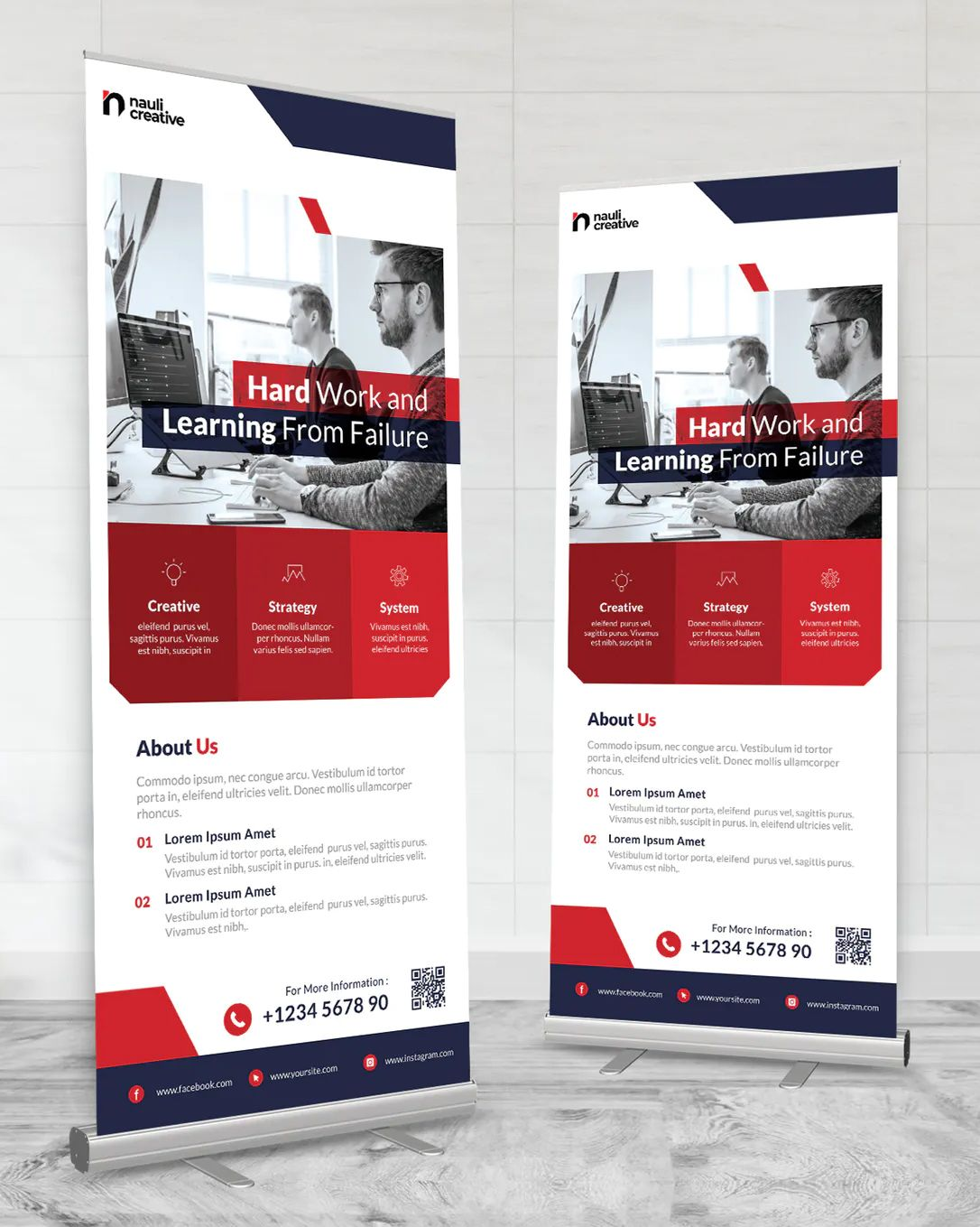 Creative Roll Up Banner AI, PSD in 2020 Banner, Psd
