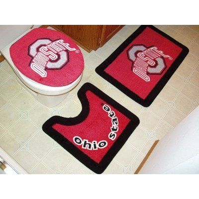 Ohio State Buckeyes 3 Piece Bath Rugs By Championship Home Accessories 37 62 Width Na Height Na Length Na Dimens Ohio State Decor Ohio State Bath Rugs