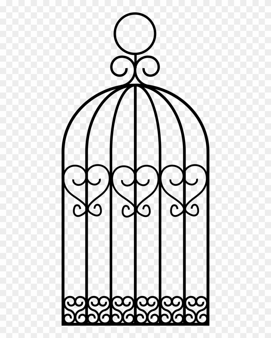 Cage Bird Png Drawing A Bird Cage Clipart Bird Drawings Bird Cage Decor Clip Art