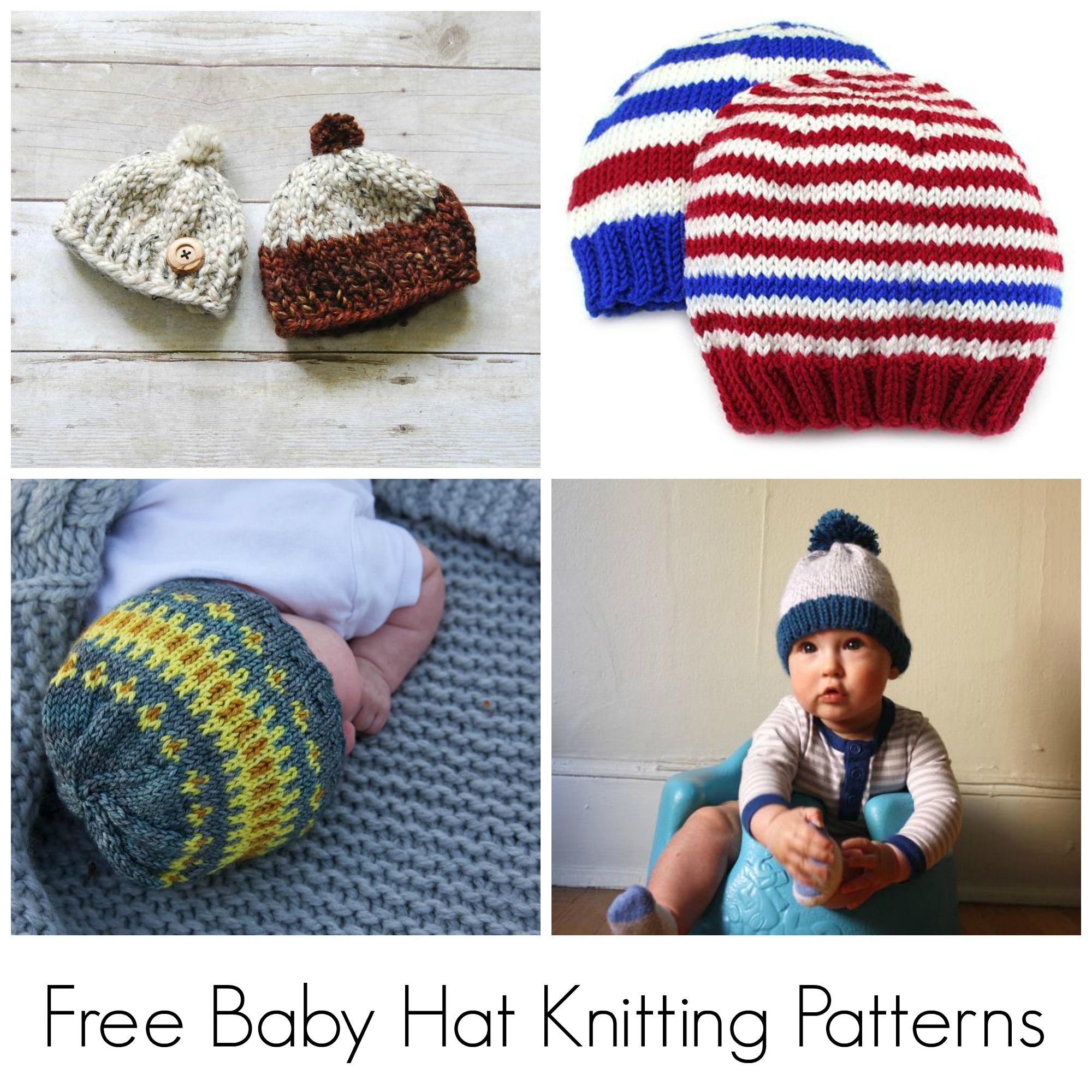10 FREE Knitting Patterns for Baby Hats | Baby hat knitting pattern ...