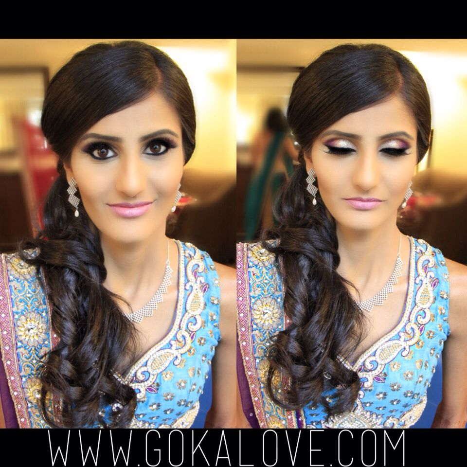 makeup, hair and dupatta setting for an indian wedding! boston