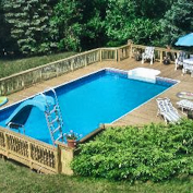 Rectangle Above Ground Pool Decks rectangular above ground pools walmart | for the home | pinterest