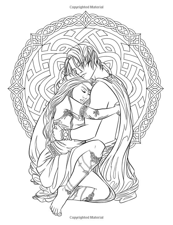 Gótico - Dark Fantasy Coloring Book (arte de la fantasía para ...