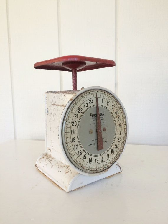 VINTAGE HANSON SCALE Kitchen Chippy Shabby by kitncaboodlevintage