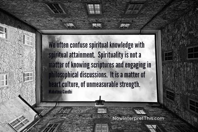Spirituality is not philosophy