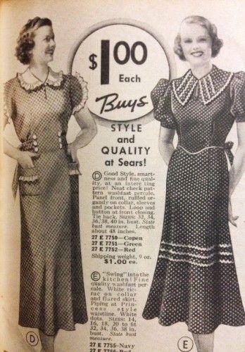 1930s House Dresses, Fabrics, Patterns   Vintage outfits, Dress fabric  patterns, House dress