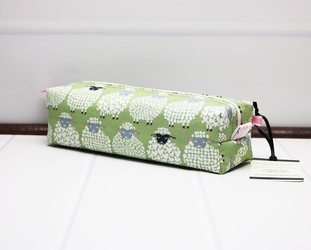 0f1fc2ce62 Sheep Zipper Pouch - Knitting Notions - Travel Toothbrush Pouch - Makeup  Brush Pouch - Box