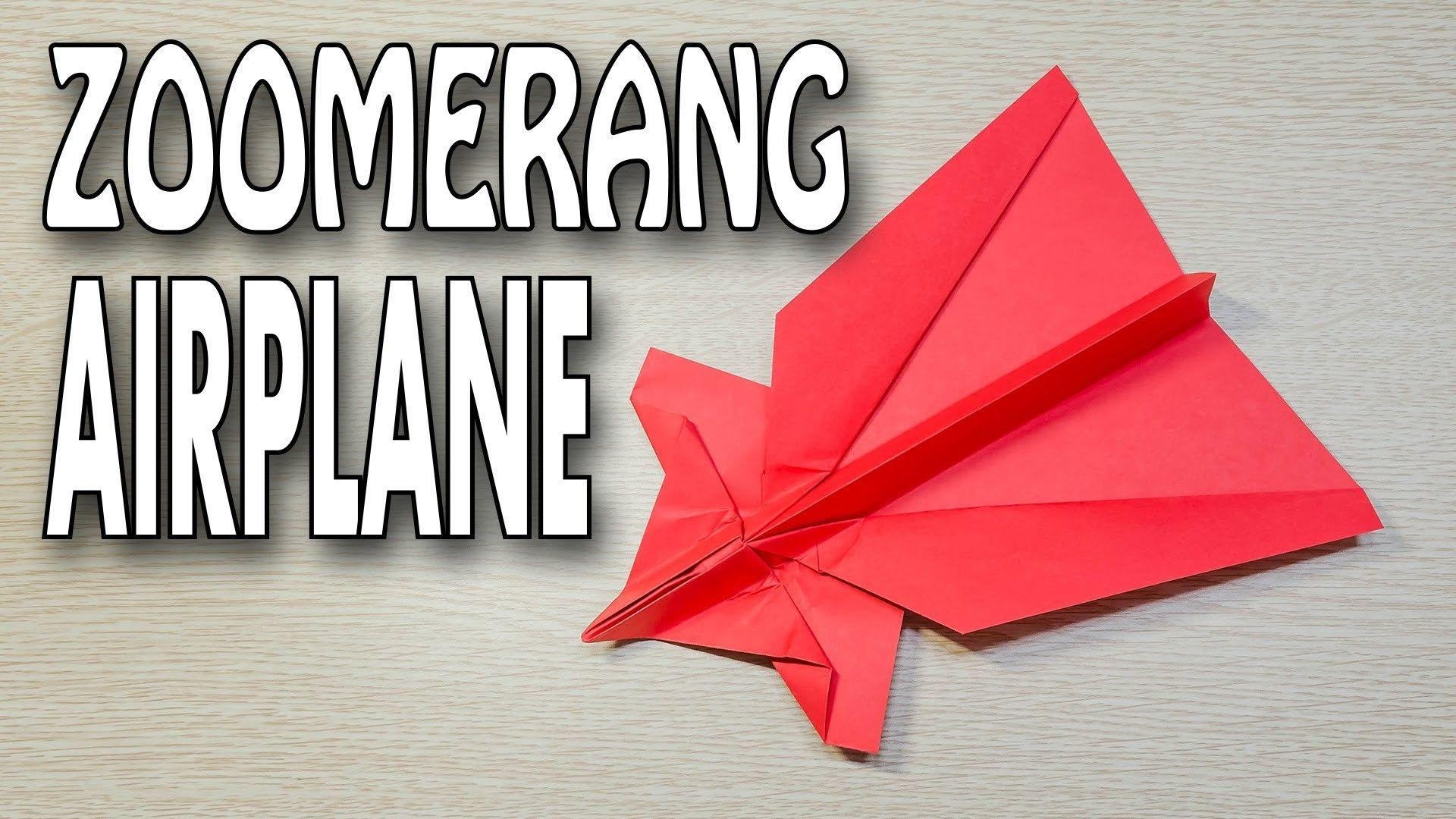 Zoomerang Paper Airplane Origami Tutorial Origami Tutorial Paper Airplanes Origami