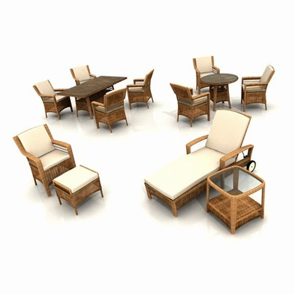 3d model wicker garden furniture armchair 3d model - Garden Furniture 3d Model