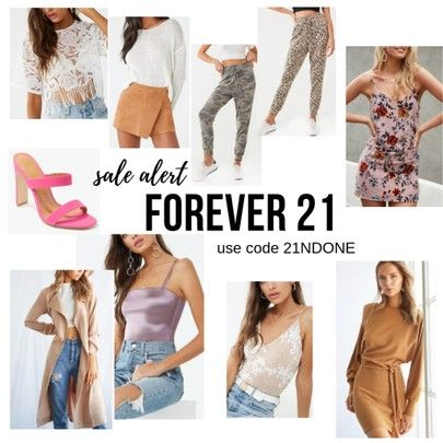 Forever21 is doing a HUGE 21% sale off their entire site! Code inside this pic. CLICK to shop or go...