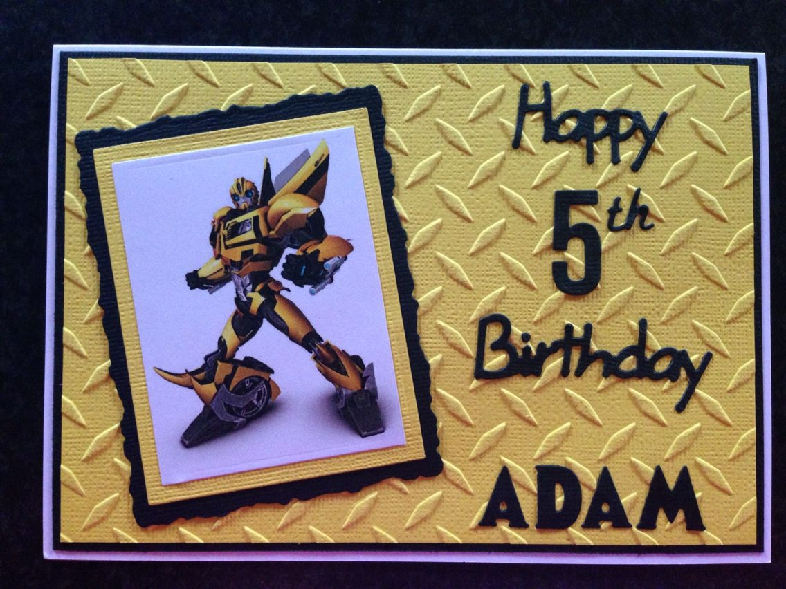 Transformers Birthday Card Birthday Cards Kids Birthday Cards Transformer Birthday
