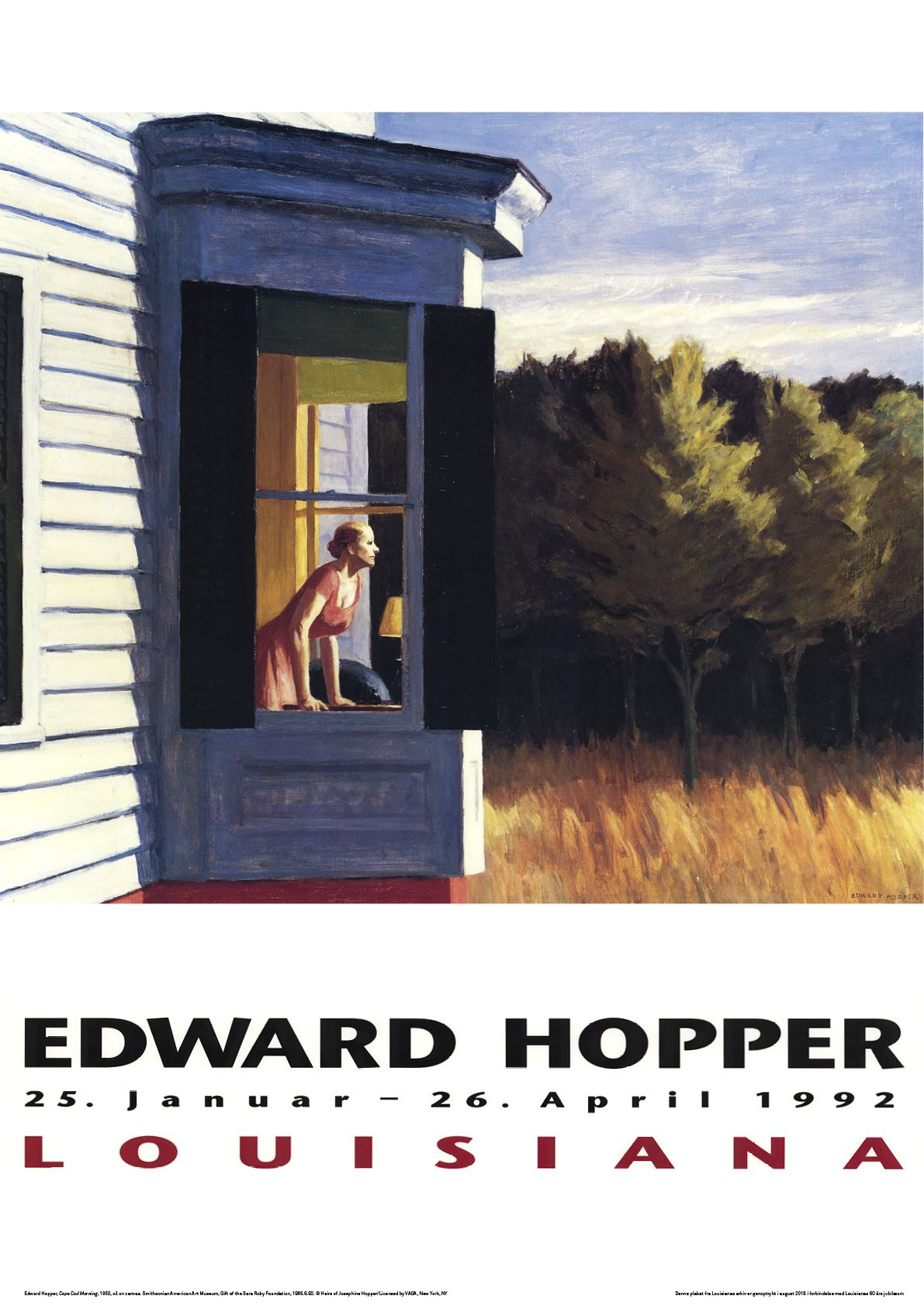 Celebrate 60 Years Of Louisiana Museum With These Vintage Posters Louisiana Museum Edward Hopper Iconic Poster