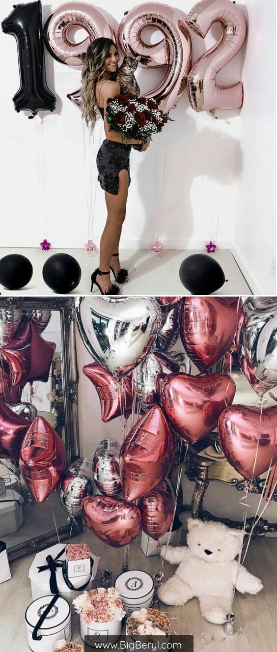 number foil balloons 40 inches gold silver and rose gold