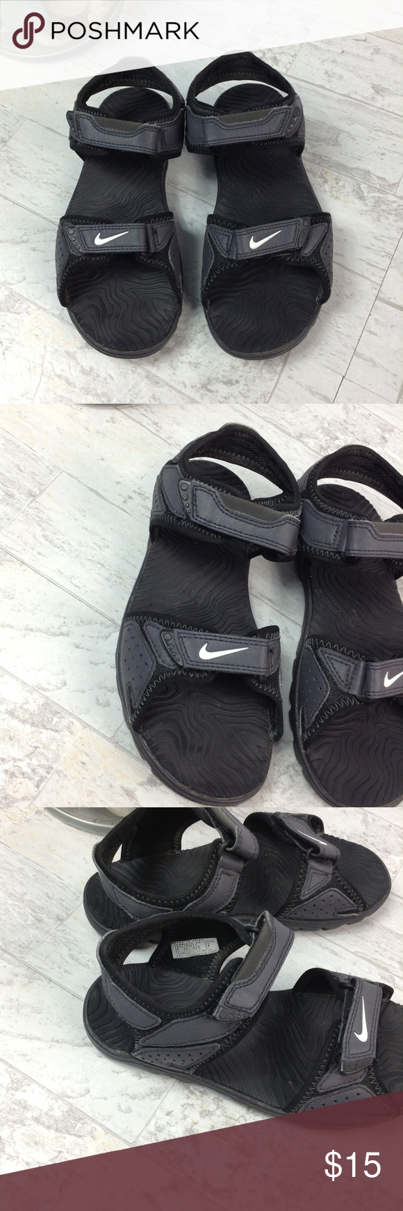 Nike sandals with velcro straps | Nike