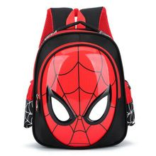 5222695468 Fashion Kindergarten schoolbag baby boy tide 3-5-6 years old backpack class  boy cute children Spider-man student school bag(China)