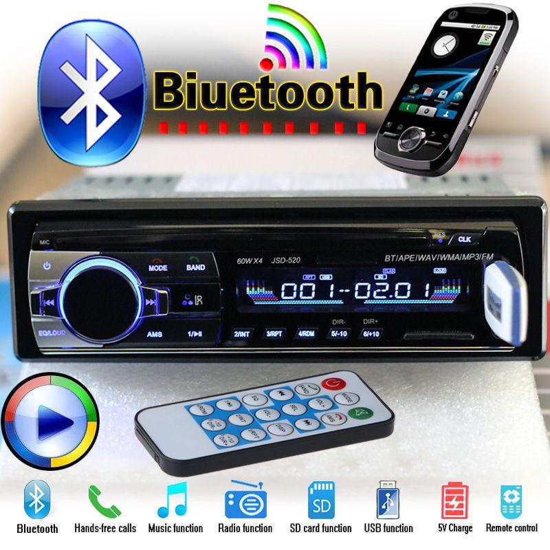 Mini 1DIN 12V Car Radio Audio Stereo Player InDash MP3 FM Transmitter USB SD AUX