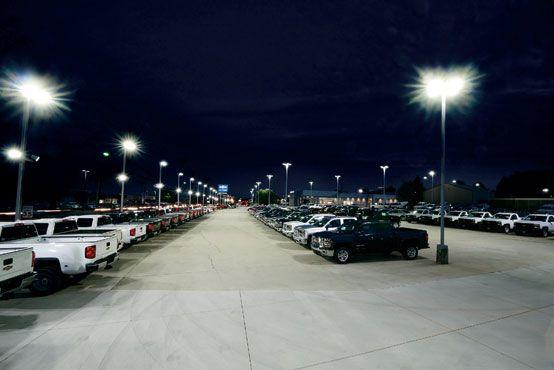 Spaulding Lighting Before And After Led Relight Retrofit Parking Lot Lighting Led Parking Lot Lights Led