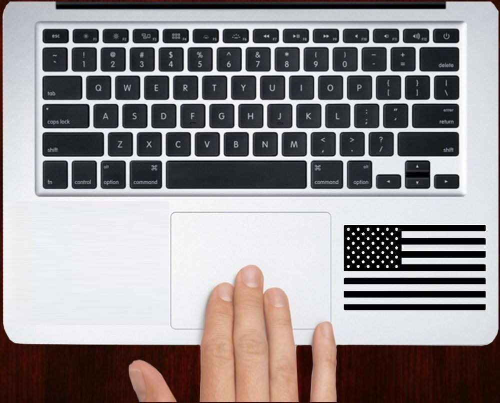 American Flag Patriot Symbol Stars Decal Stickers For Macbook