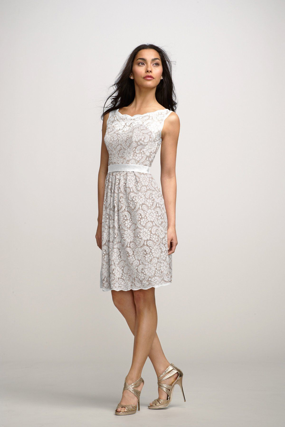 Peach dress for wedding guest  Encore Dress Camellia  wedding  Pinterest  Camellia and Wedding