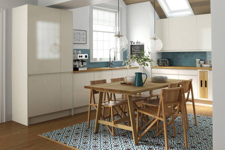 Best Handleless Morning Mist Gloss Kitchen Interior Interior 400 x 300