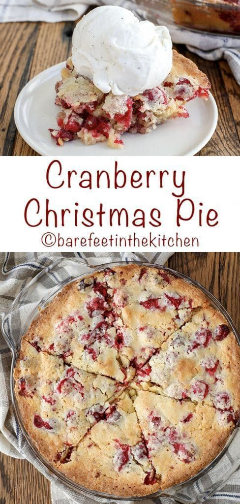 This Cranberry Christmas Pie is the reason I stash cranberries in the freezer! - get the recipe at