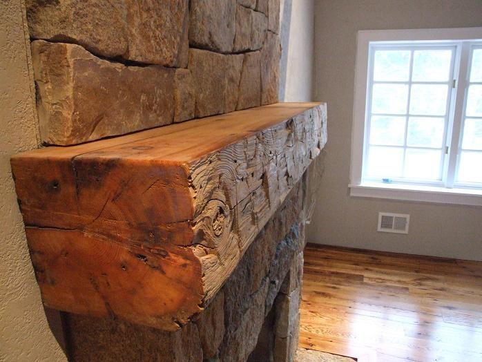 Reclaimed Rustic Wood Floating Fireplace Shelf Mantel Mantle Beam Custom Sizes