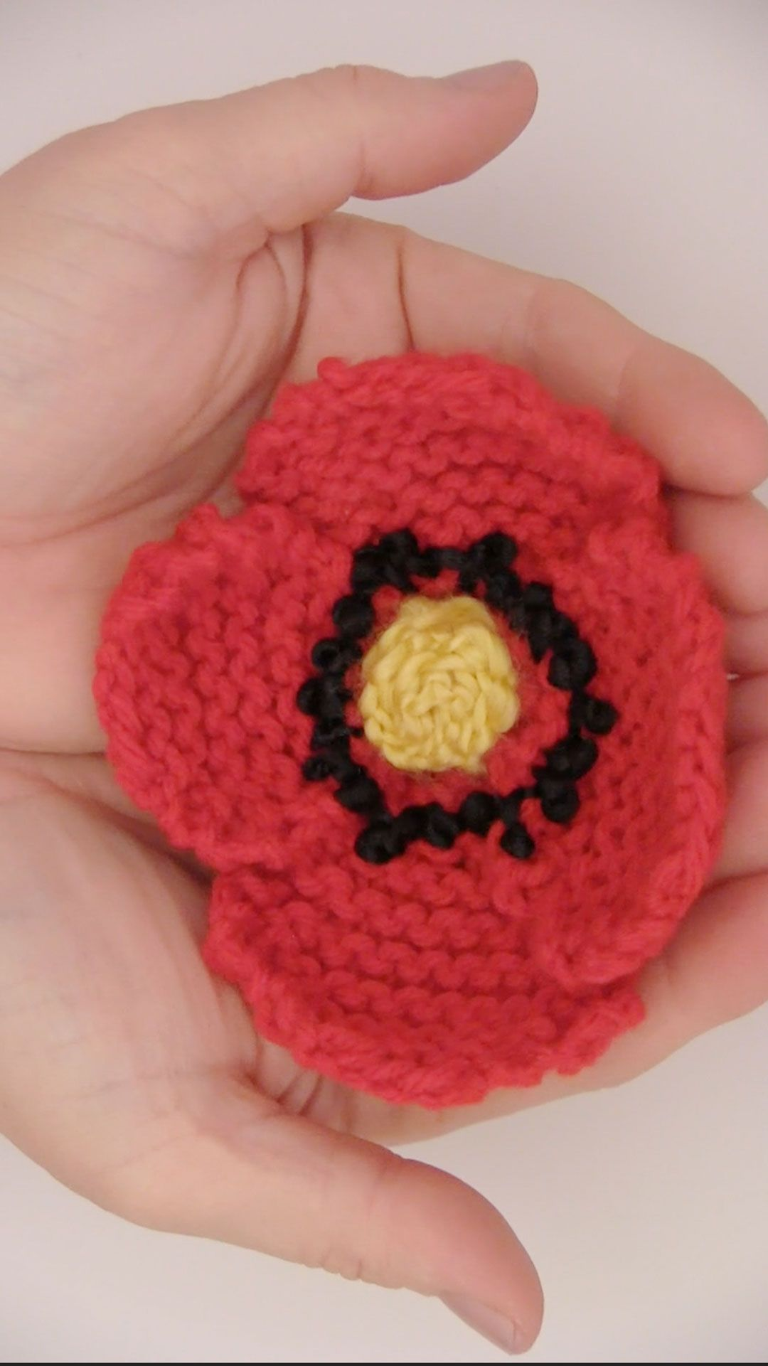 How to knit a poppy flower pattern with video tutorial knitting everythings coming up poppies learn how to knit a poppy flower with free knitting pattern mightylinksfo