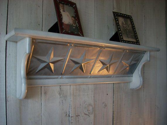 Western Furniture Shelves Star White Wall Shelf | Muebles ...