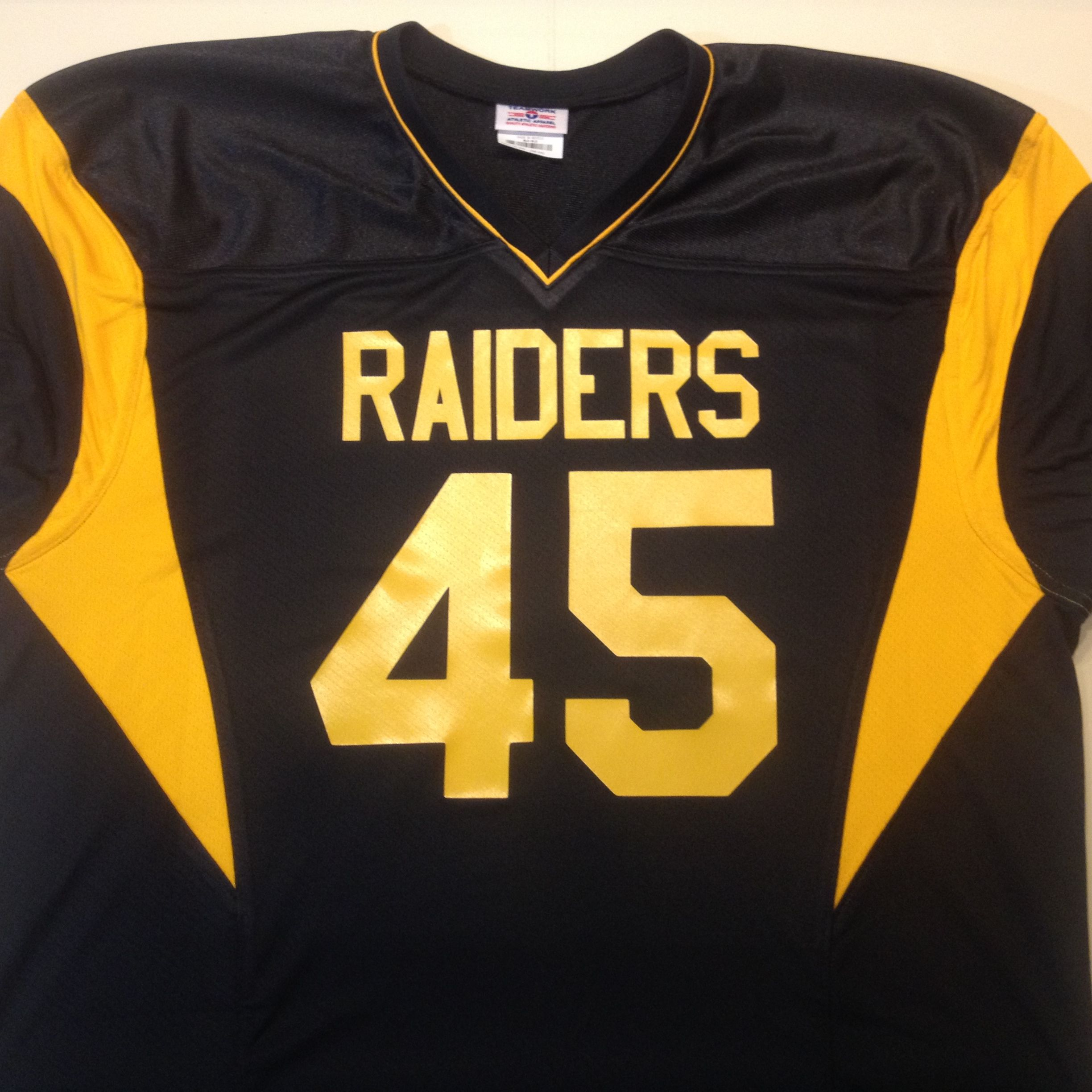 The Pittsburg Raiders If You Can Visualize It You Can Create It This Raiders Inspired Jersey Was Created In Steeler Custom Football Jersey Football Jerseys