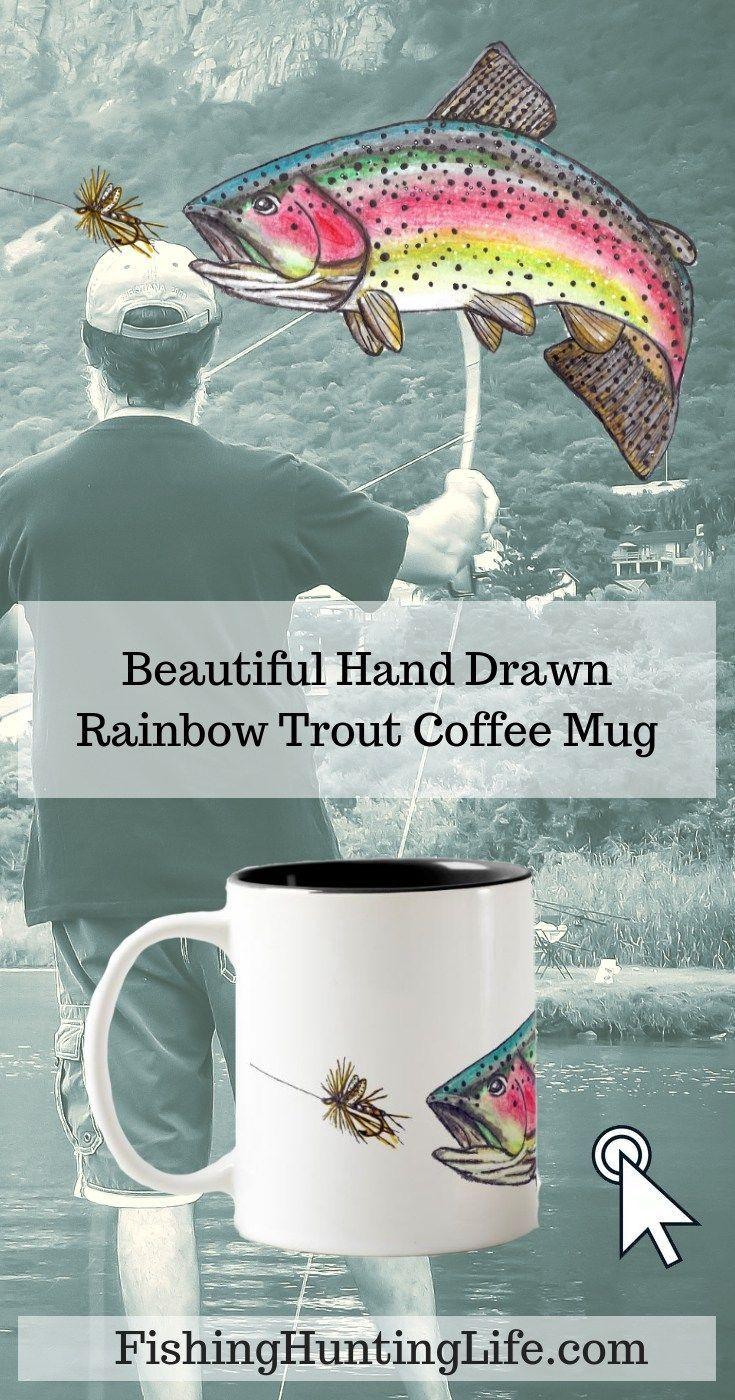 Rainbow Trout Fly Fishing TwoTone Coffee Mug Fly