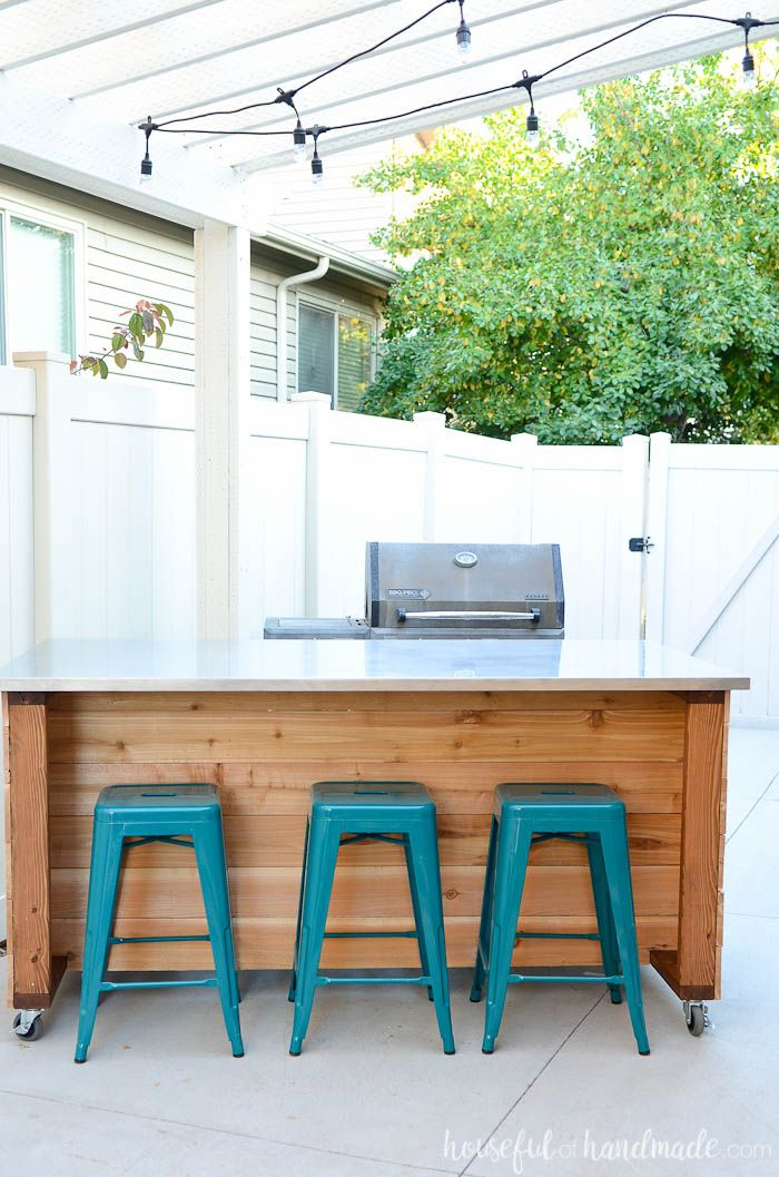 Outdoor Kitchen Island Build Plans | Build outdoor kitchen ...