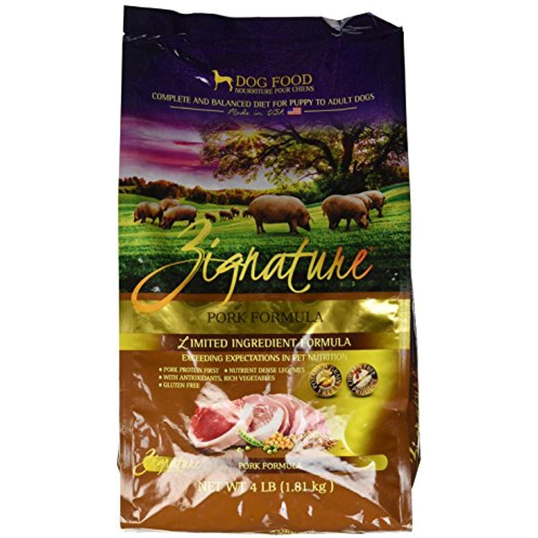 Zignature 12713160 Pork Formula Dry Dog Food 4 Lb Be Sure To