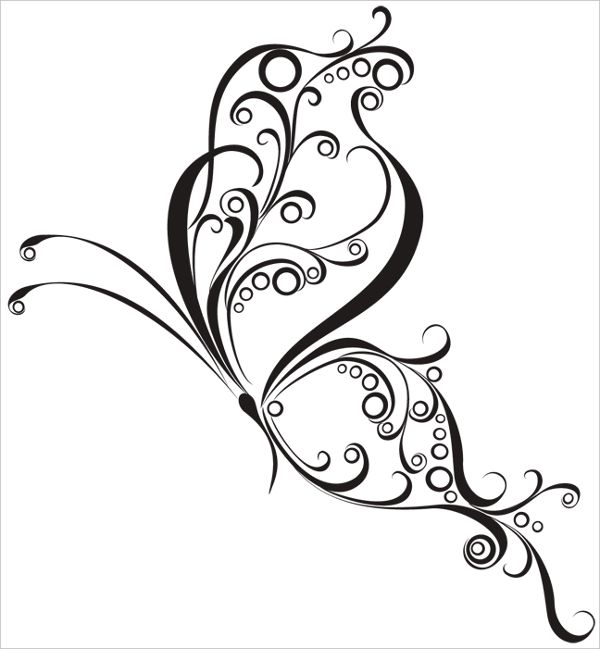 Interior Nice Designs nice curly butterfly tattoo design on white background flawless background