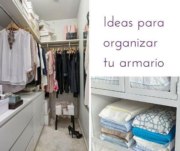 C mo ordenar nuestro armario decoraci n red facilisimo - Organizar armarios ropa ...
