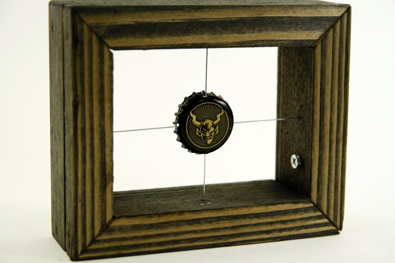 Bottle Cap Art Frame - Stone Brewing - Single Cap in a Wire Grid ...