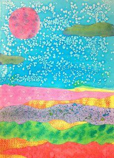 Watercolor Technique Landscapes Kids Art Class Kids Art Class