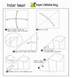Easy Origami Polar Bear   Origami   Origami, Origami ... - photo#9