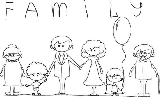 Día De La Familia Para Colorear Imprimir 1 Paper Doodles 5