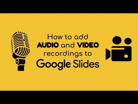 6 How To Add Audio Video To Google Slides Youtube Google Slides Audio Slides