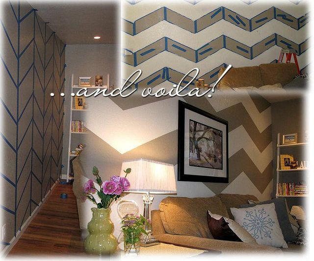die besten 25 gestreift gestrichene w nde ideen auf pinterest gestreifte w nde gestreifte. Black Bedroom Furniture Sets. Home Design Ideas