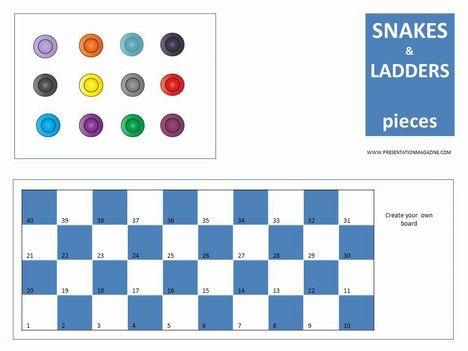 Snakes and Ladders Board Game inside page EcE Ideas Pinterest - sample dot game template