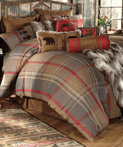 Best Mountain Trail Rustic Bedding Collection In 2019 Plaid 400 x 300
