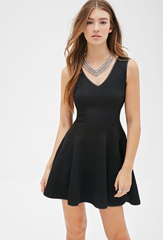 diamond embossed a line dress forever21 2000118686 my wishlist pinterest kleider. Black Bedroom Furniture Sets. Home Design Ideas