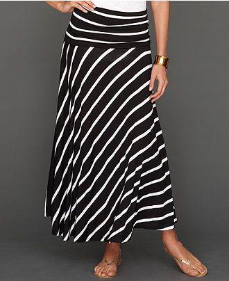 41a89e8b6 INC International Concepts Petite Skirt, Convertible Striped Maxi - Petite  Skirts - Women - Macy's