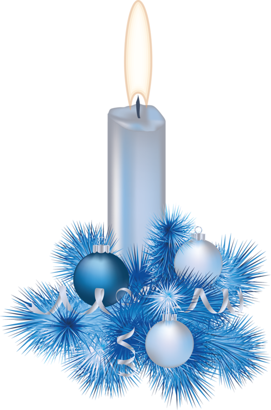 Christmas blue candle in pinterest