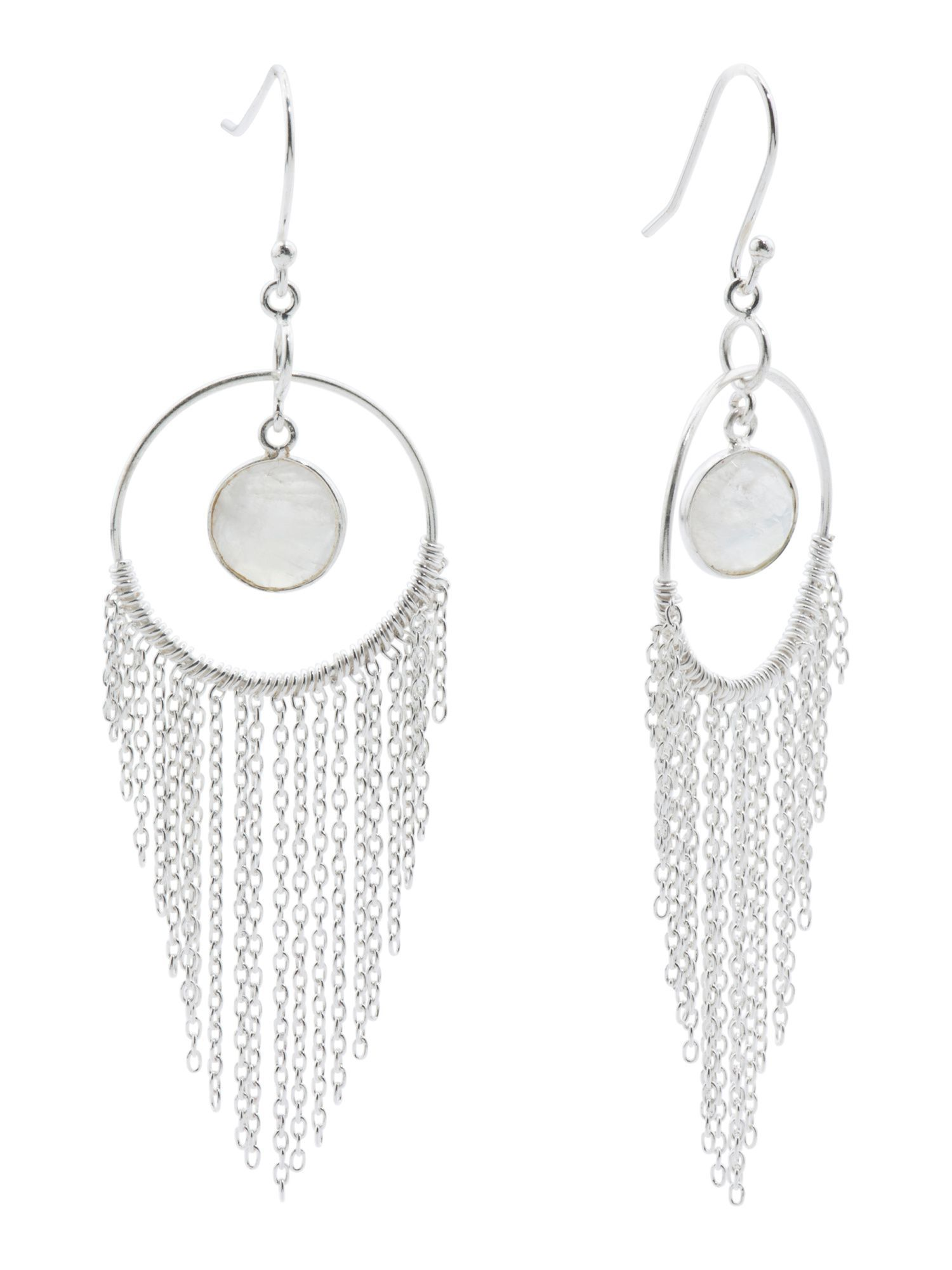 9e410dd9d7e4a Made In India Sterling Silver Tassel Hoop Earrings | Products ...